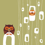 Owl. Abstract romantic moments sitting in the seson owl Royalty Free Stock Photo