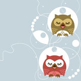 Owl. Abstract romantic moments sitting in the seson owl Royalty Free Stock Images