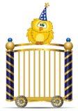 Owl. Template Circus theme (owl cartoon vector illustration