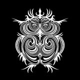 Owl. Abstract illustration of owl on black background Stock Image