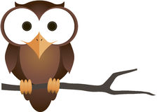 Owl. A fun little owl. Please notice there is a vector file available Stock Photography