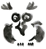 Owl. Illustration isolated on white background vector illustration