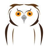 Owl. Vector brown owl on a white background Stock Image