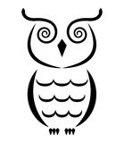 Owl. Abstract owl. Isolated on white background Royalty Free Stock Image