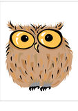 Owl vector illustration Stock Images