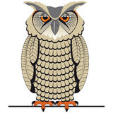 Owl. Simple illustration of a nocturnal animal, the Owl Royalty Free Stock Images