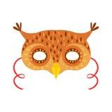 Owl Animal Head Mask, elemento del costume di travestimento di carnevale dei bambini Immagine Stock