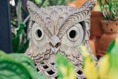 Owl architechture in the garden Stock Photos