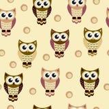 Owl baby seamless texture Stock Photos