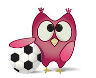 Owl with ball Stock Photography