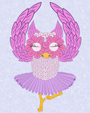 Owl ballerina Royalty Free Stock Images
