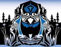 Owl and Bat Abstract Graphic Royalty Free Stock Images