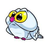 Owl big eyes cartoon illustration Royalty Free Stock Images