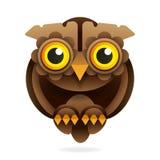 Owl with big eyes vector illustration on white background vector illustration