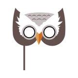 Owl Bird Carnival Mask Childish-Maskerade-Element stock abbildung