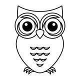 Owl bird isolated icon Royalty Free Stock Photography
