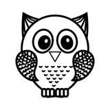 Owl bird isolated icon Royalty Free Stock Photos