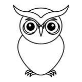 Owl bird isolated icon Royalty Free Stock Image