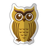 Owl bird isolated icon Royalty Free Stock Images