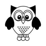 Owl bird isolated icon Stock Image