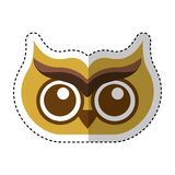 Owl bird isolated icon Stock Photo