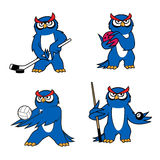 Owl bird mascot for sport club or team design Royalty Free Stock Photo