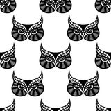 Owl bird seamless pattern Royalty Free Stock Photo