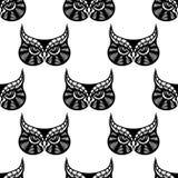 Owl bird seamless pattern Royalty Free Stock Photo