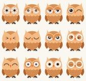 Owl birds pattern Royalty Free Stock Photos