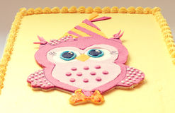 Owl Birthday Cake Royalty Free Stock Image