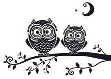 Owl black Stock Photo