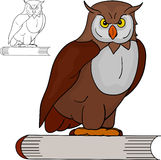 Owl and book Royalty Free Stock Image
