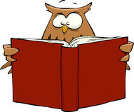 Owl with book Stock Photography
