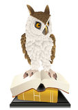 Owl and books Royalty Free Stock Image