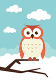 Owl on a branch Royalty Free Stock Image