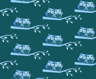 Owl and branch vector art background Stock Photo
