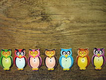 Owl-buttons Stock Photo