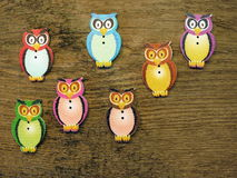 Owl-buttons Stock Photography