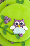 Owl cake Royalty Free Stock Images