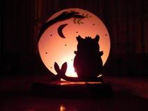 Owl Candle Fotografia de Stock