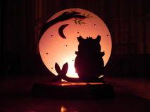 Owl Candle Stock Photography
