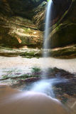 Owl Canyon - Starved Rock State Park. Water flows over beautiful Owl Canyon Falls at Starved Rock State Park of Illinois Stock Photos
