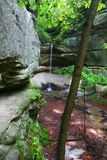 Owl Canyon Starved Rock State Park. Springtime scene at Owl Canyon of Starved Rock State Park in Illinois Stock Photo