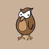 Owl. Carnivore bird cartoon vector Royalty Free Stock Photography