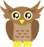 Owl Cartoon Royalty Free Stock Photography