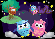 Owl Cartoon Character Vector Royalty Free Stock Images