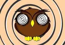 Owl cartoon expressions background Royalty Free Stock Photo