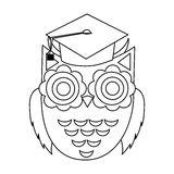 Owl cartoon icon Royalty Free Stock Image