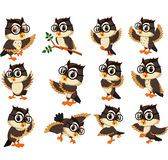 Owl cartoon Stock Image