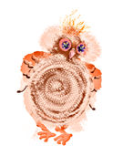 Owl. Cartoon image  on a white background Royalty Free Stock Photography